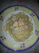 Vermicelli aglio,olio,peperoncino,mousse di cavolo e colatura di alici